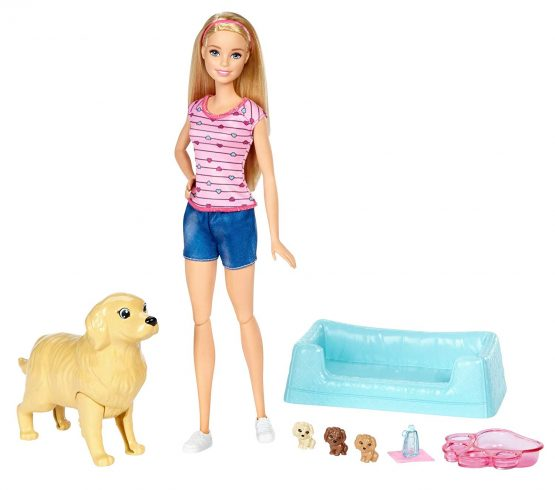 Barbie Doll With Puppies