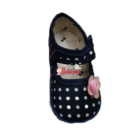 Chaussures à Pois Bleu