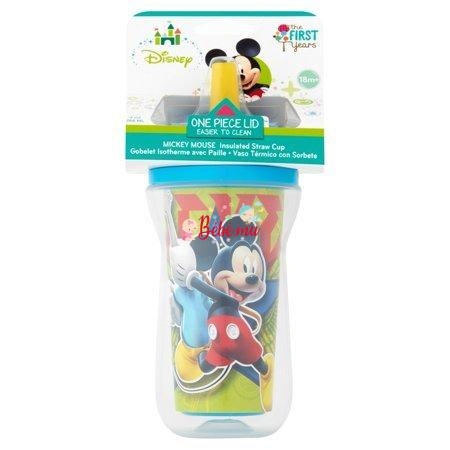 First Years Mickey Mouse Insulated Straw Cup 18m+