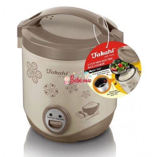 Takahi 2-Cup Mini Electric Rice Cooker, 0.4-Litre