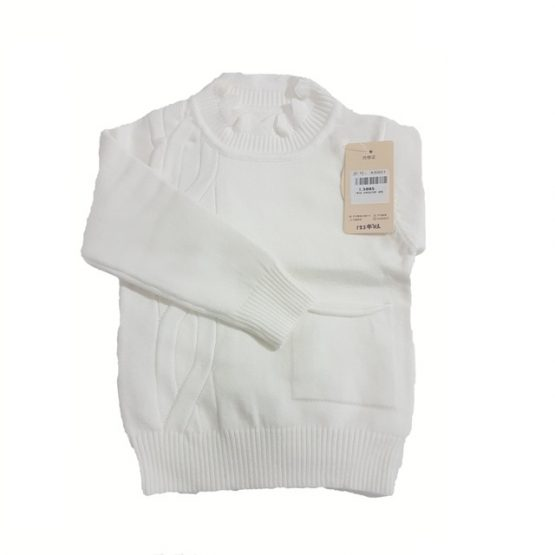 Pull Fleece Fille Col Rond