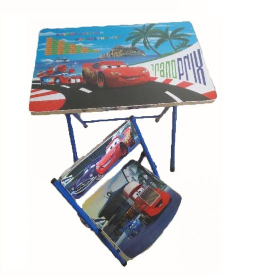 Set Pliable de Table Enfant + Chaise Cars