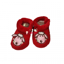 2019201902844 BABY SLIPPERS RED