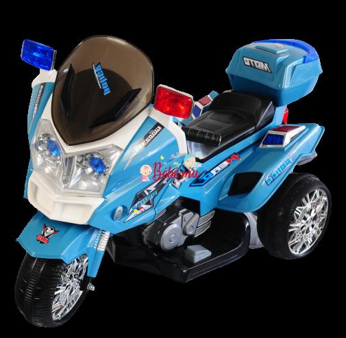 Motor Police Vipsu Bleu Électrique