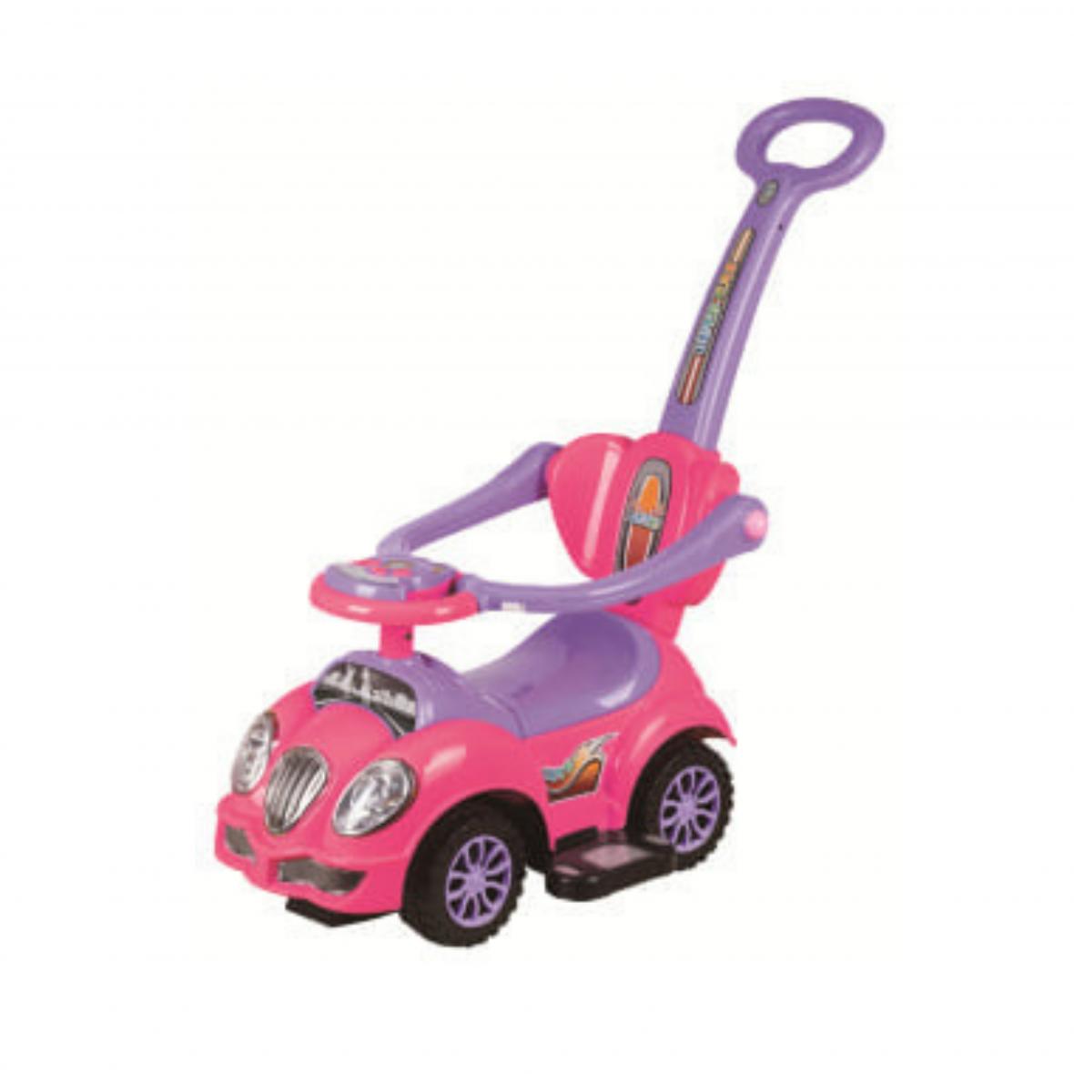 Auto Trotteur Cute avec Manche Pink